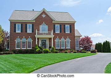 Brick Faced Single Family House Home MD USA - Back-lit new...