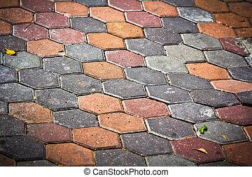 Brick flooring background