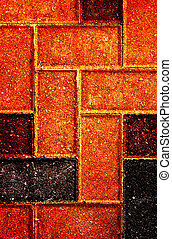 Brick Flooring Stone Pattern Posterized