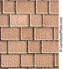 Brick footpath background.