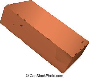 Brick from red clay