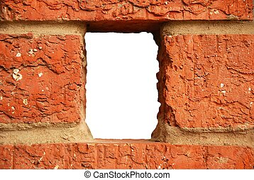 Brick hole in wall