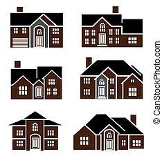 Brick home icons