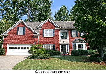 Brick Hosue 5 - A nice brick house against a blue sky