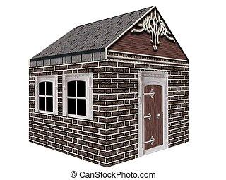 brick house - 3d render