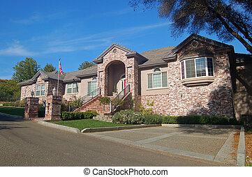 Brick House in the Suburbs - A brick house in the suburbs
