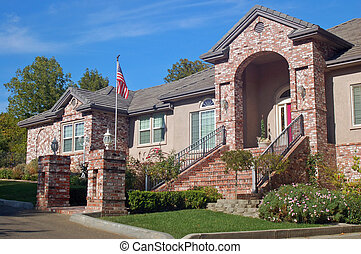 Brick House in the Suburbs - A beautiful brick house in the...