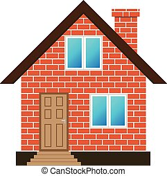 brick house illustrations and clip art 35 490 brick house royalty rh canstockphoto com House Clip Art red brick house clipart