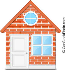 Brick house, vector eps10 illustration