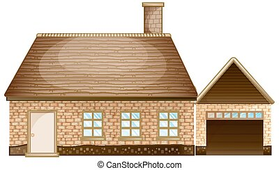 Brick house with garage