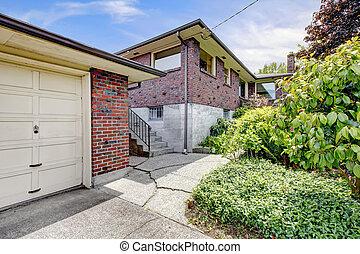 Brick house with garage
