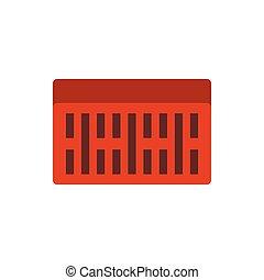 Brick icon, flat style