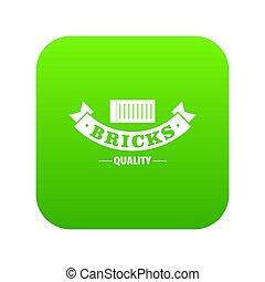 Brick icon green