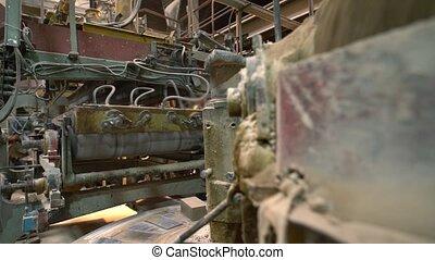Brick industry. View of machine in workshop - Brick...