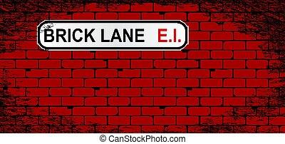 Brick Lane Brick Wall