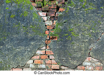 brick old wall color dirty