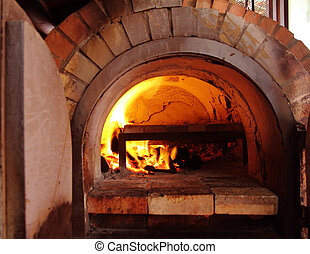 Brick oven for cooking and baking food