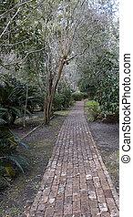 Brick Path Through Trees