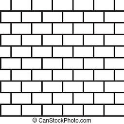 Brick pattern seamless black and white