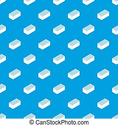 Brick pattern seamless blue