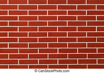 Brick red on wall background.