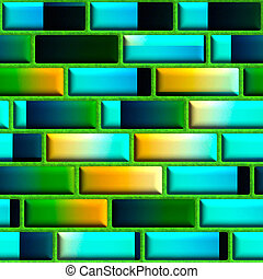 Brick seamless texture - Bright seamless texture background...