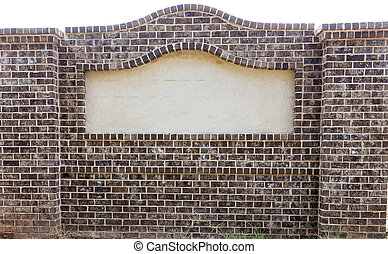 Brick Sign with Blank Space