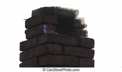 Brick smokestack - Old brick smokestack close