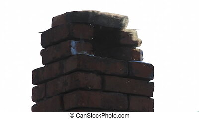 Brick smokestack - Old brick smokestack close