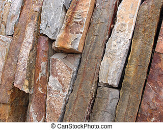 brick Stone cut wall