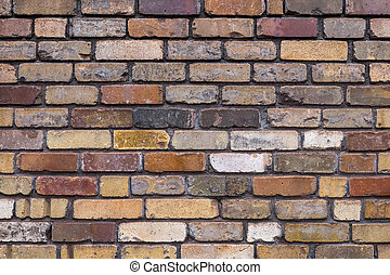Brick texture colorful wall or floor