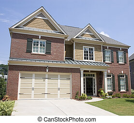 Brick Two Story with Wood Trim