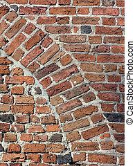 Brick wall - arch