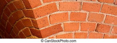 Brick wall arch