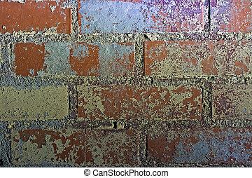 Brick Wall at Night