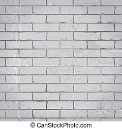 Brick wall background of gray color. Vector eps-10 with...