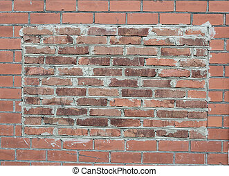Brick wall background in the form