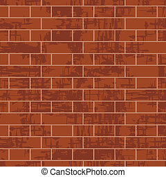 Brick wall background, vector illustration