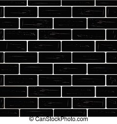 brick wall black vector