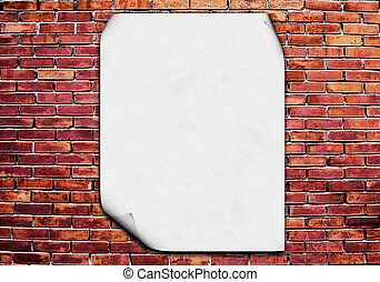 Brick wall blank