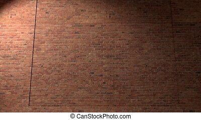 Brick wall break through demolish smash escape to white...