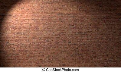 Brick wall break through demolish smash escape to white light