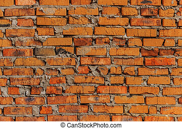 Brick wall (brickwork) background - Background on the basis...