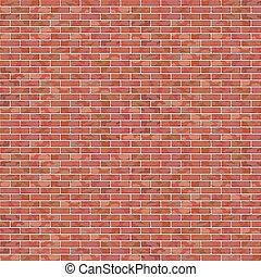 Brick Wall - A Vector Red Brick Wall