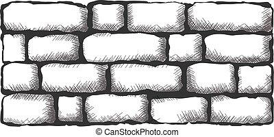 brick wall - black brick wall