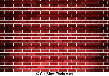 brick wall - red brick wall background