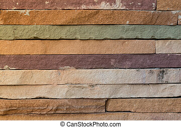 Brick wall close-up colorful abstract background,Texture background