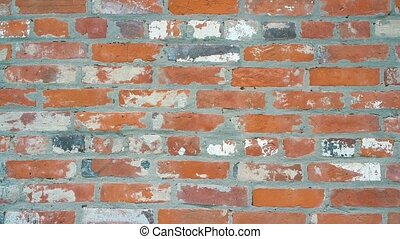 Brick wall close-up focusing. - From defocused background in...