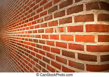 Brick wall - Close up of brick wall ending in infinity