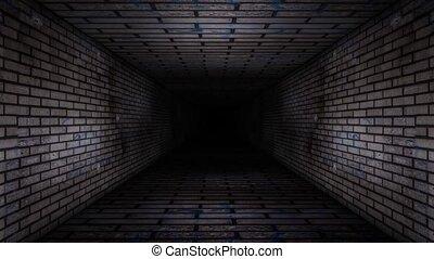 Brick Wall Corridor Loop Video